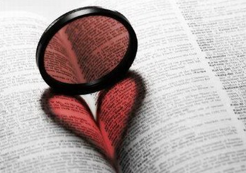 A heart on a book for valentine's day