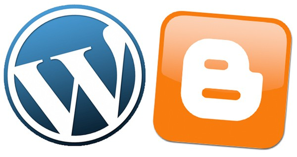 Wordpress and blogger logos