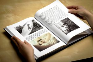 Woman hands opening book