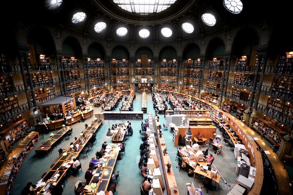 National Library of Paris Oval Room Richelieu