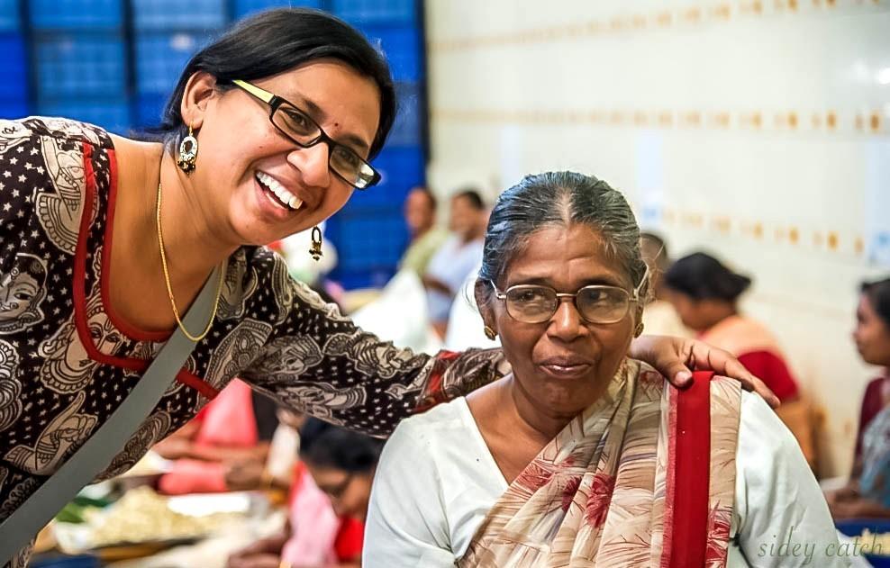 Cashew factory women in India