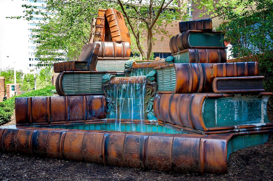 Book Fountain Cincinnati Public Library
