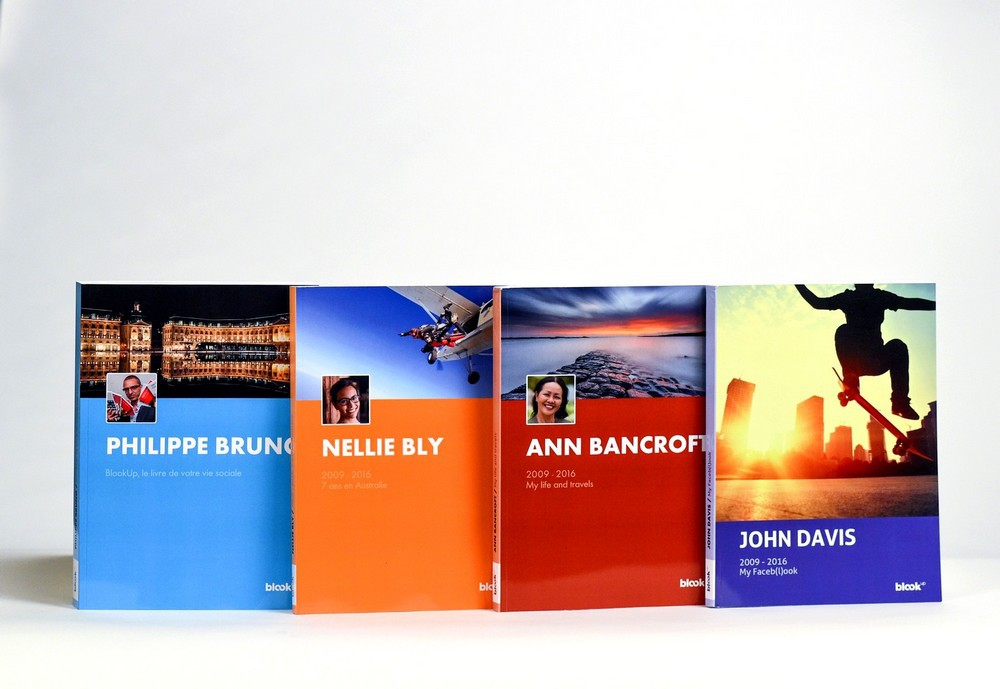 Examples of Facebook books' covers