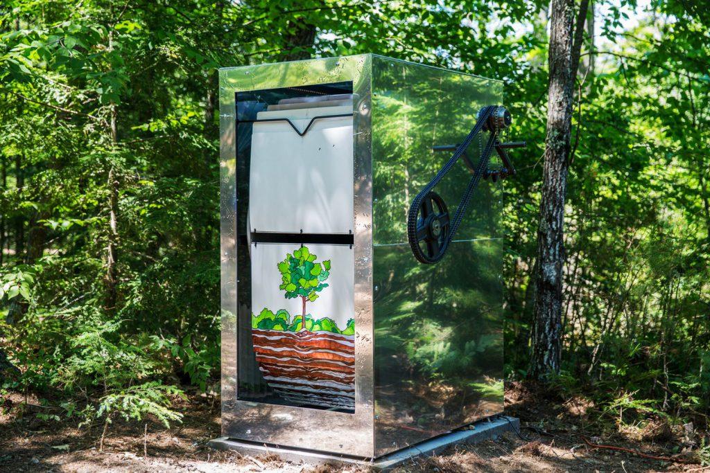 new-hampshire-woods-giant-flipbook-metal-mirror-crank-gears-tree