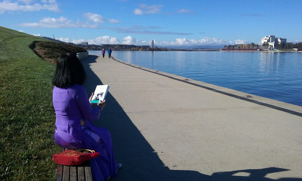 ai-hime-reading-blook-water