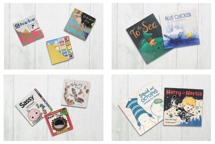 Examples of books available in the Bookroo box