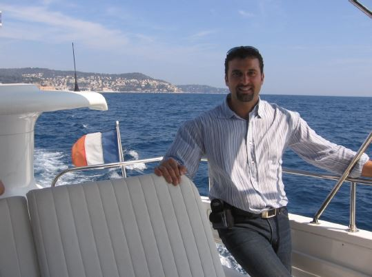 A man on a boat in nice, France