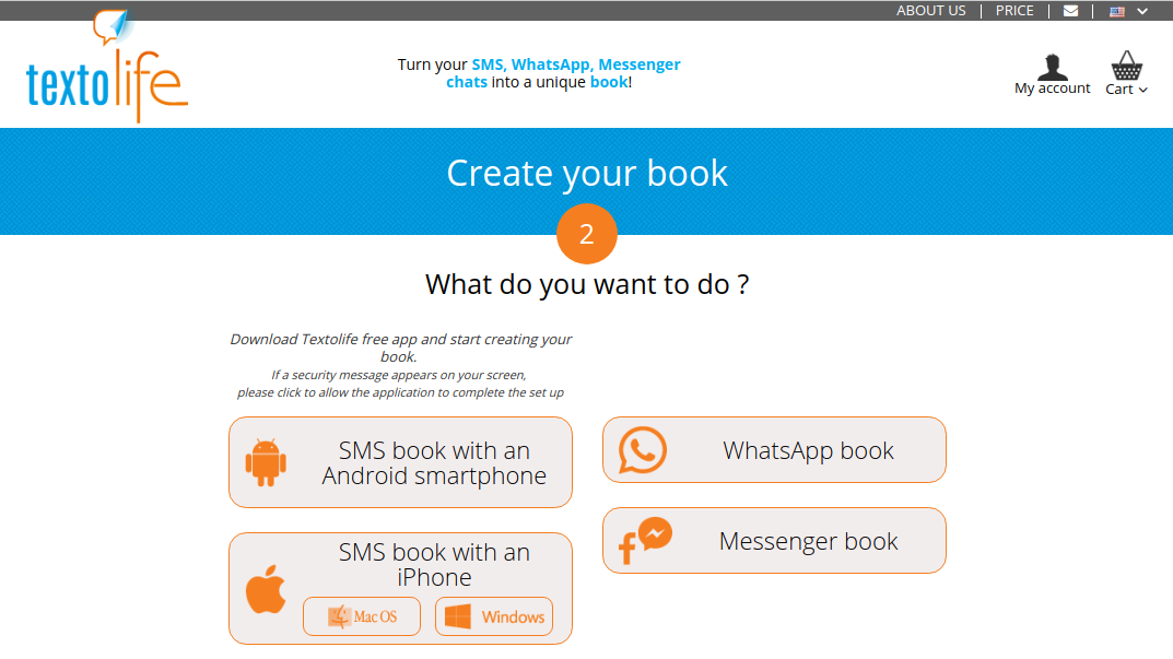 Textolife turns your SMS into books! - Blookup Blog