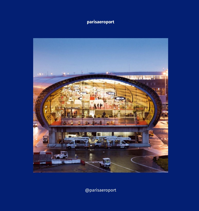 Couverture du blook de l'Instagram de Aéroports de Paris