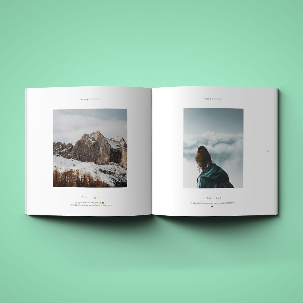 Instagram book inner photos