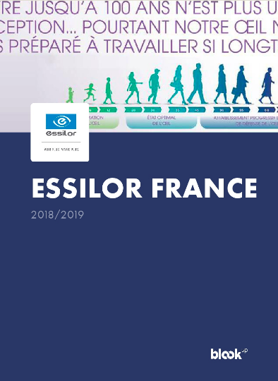 An example of essilor's facebook page blook