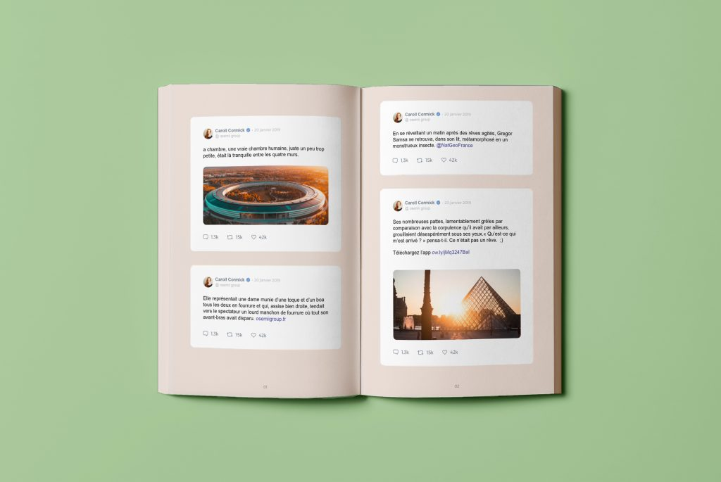 the inide presentation of a twitter book