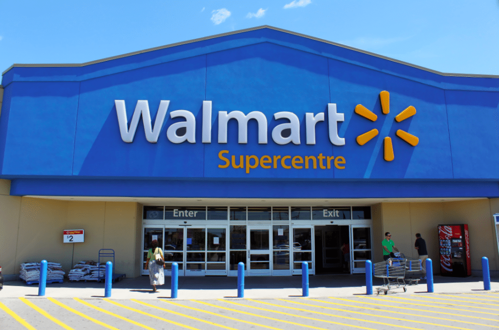 The walmart shop from the outside
