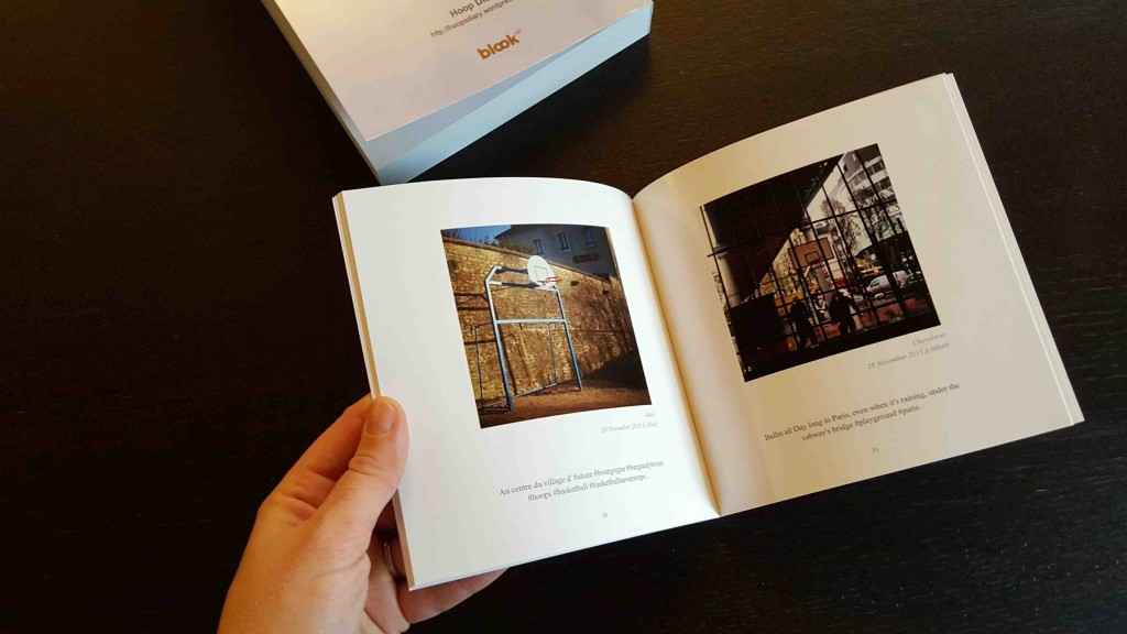 A book with basketball instagram pictures