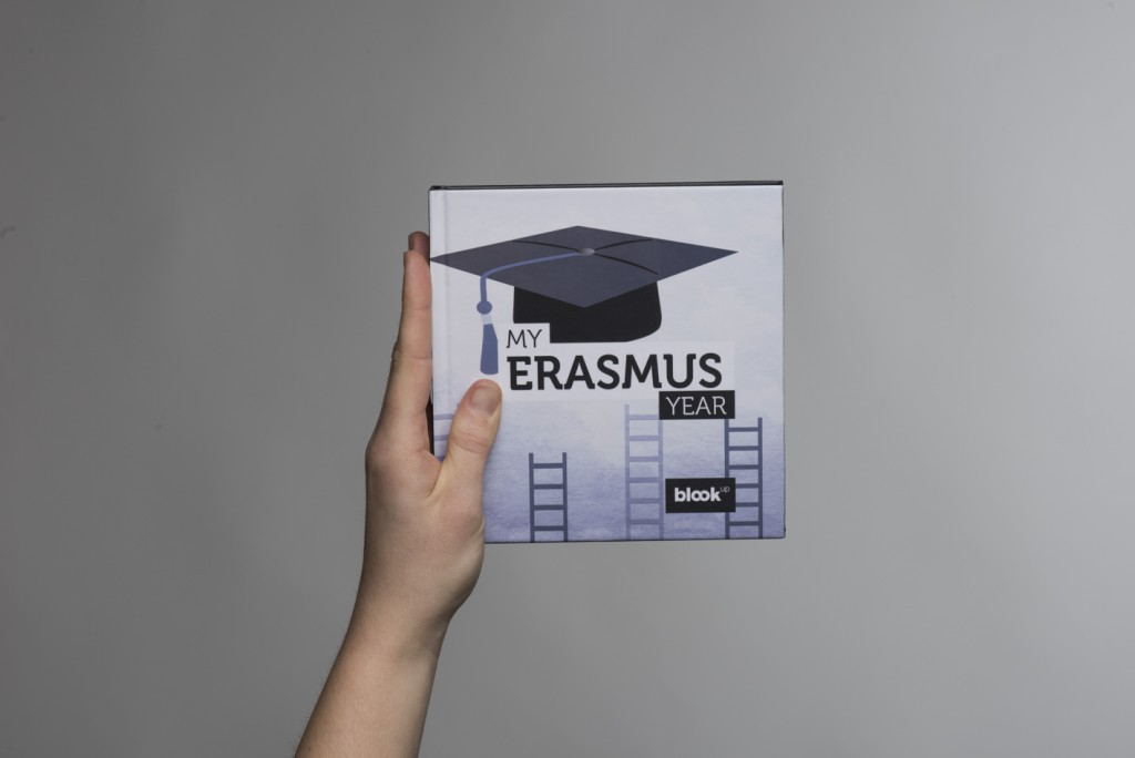 An Erasmus 's student instagram pictures in a book