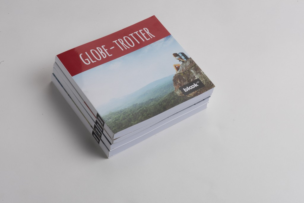 A globe trotter pictures in a book