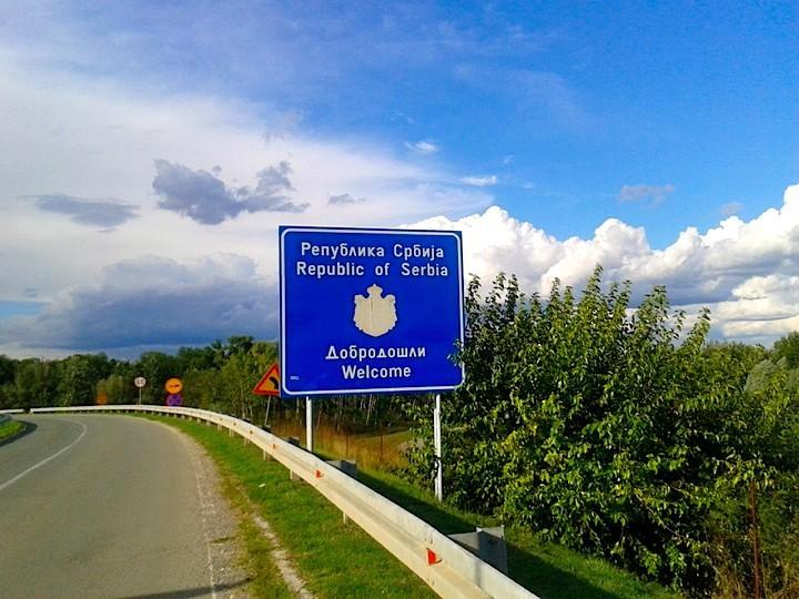 Panneau Serbie