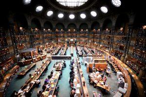 Salle de lecture - Bibliothèque Nationale de France - Paris Richelieu