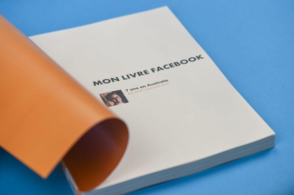 La page de garde du livre de votre facebook