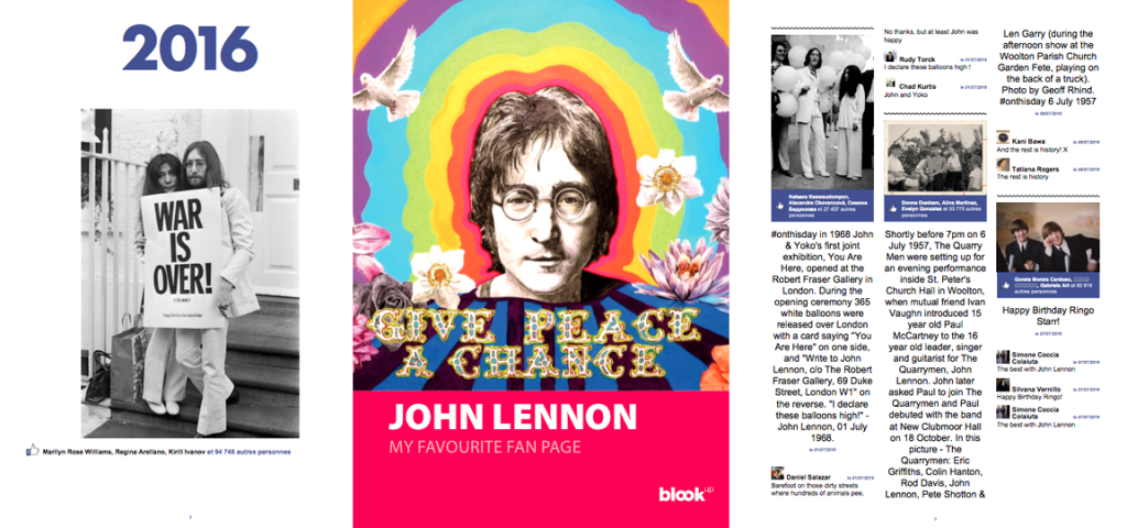 Le livre de vos pages Fan Facebook - John Lennon