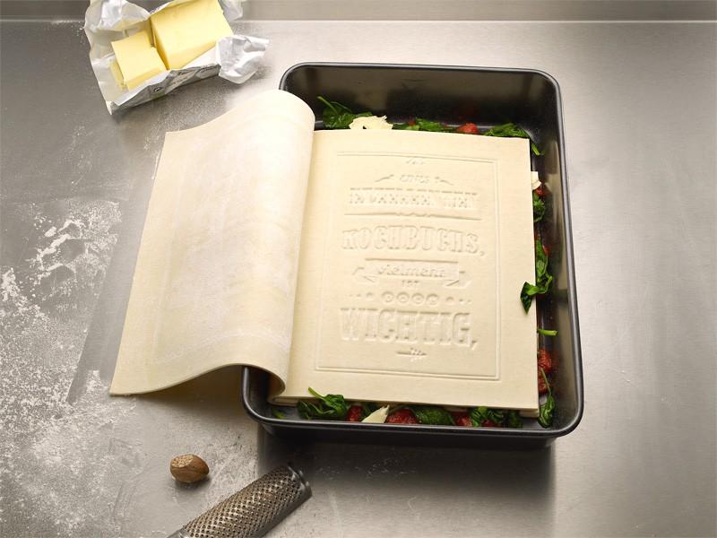 Plat du livre de recette de lasagne