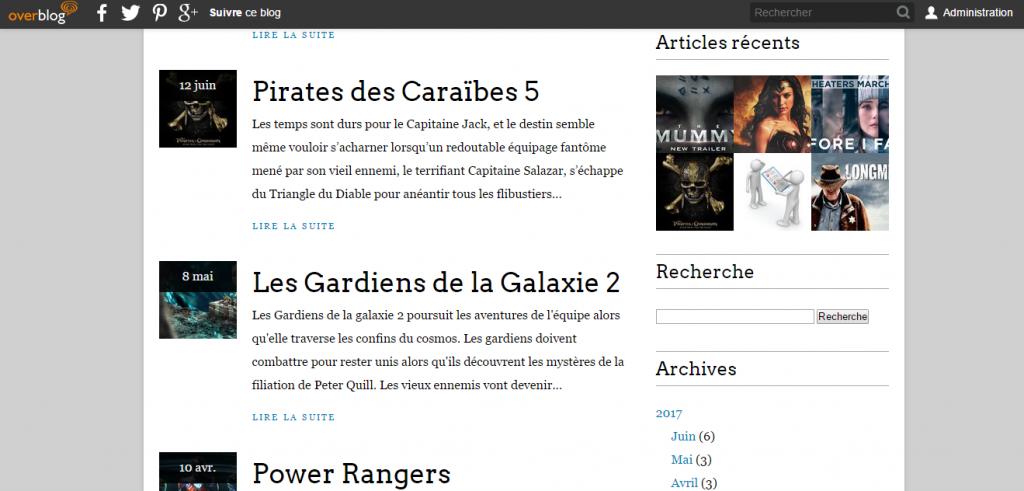 Page du blog du blog cinéma de belley