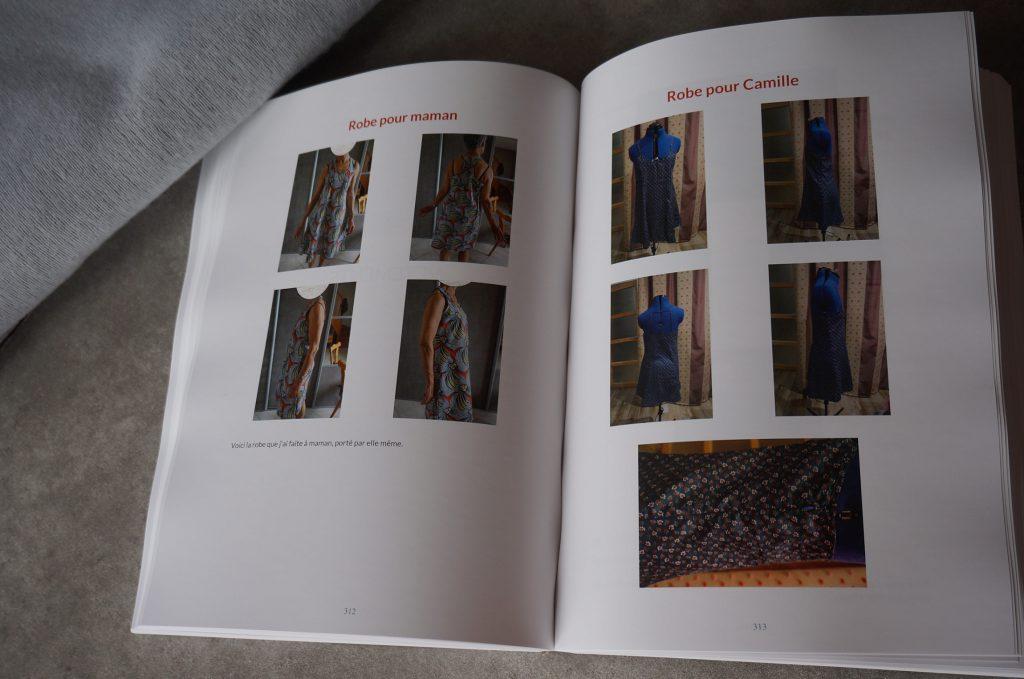 le livre du blog  de couture de la fee alex ouvert sur une des pages