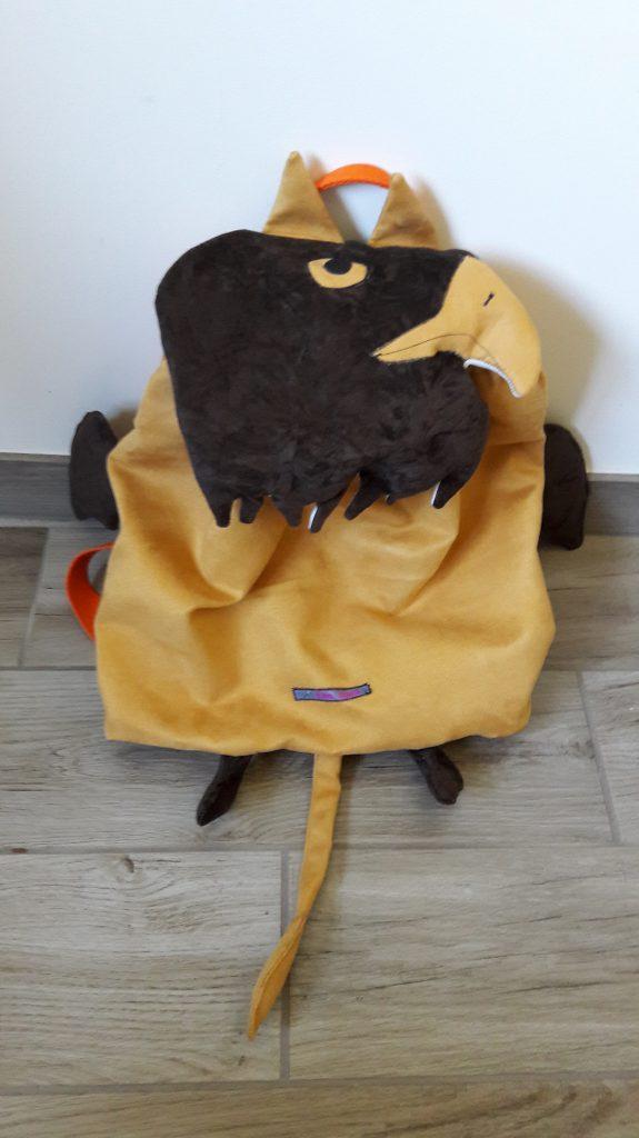 Un sac a dos crée par la Fée Alex disponible sur son blog
