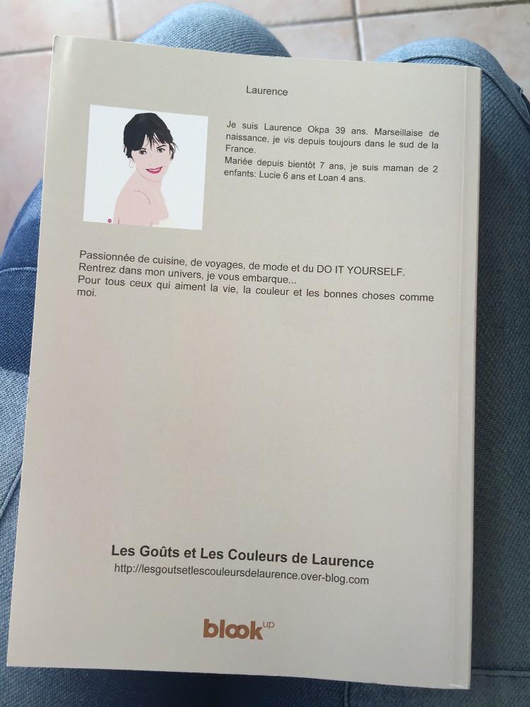 quatrième  de couverture du livre du blog de Laurence