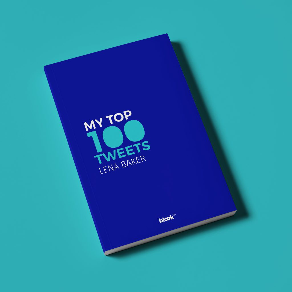 A mockup of the  top 100 Twitter book