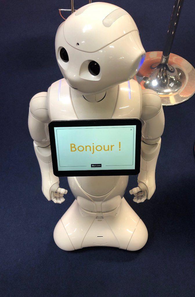 Le robot Pepper à Vivatech