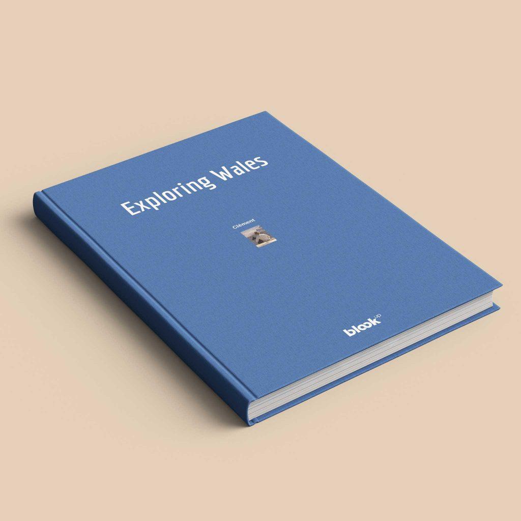 livre de blog à couverture bleue