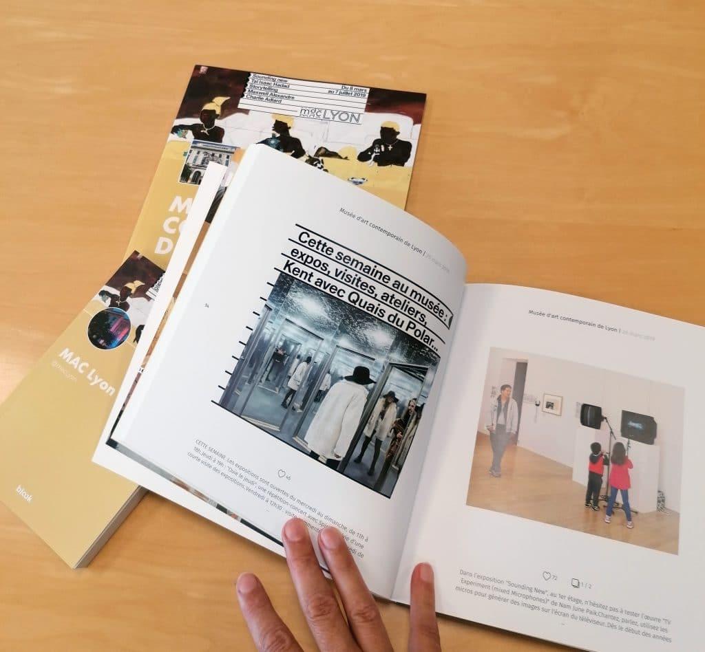 Les livres des réseaux sociaux du musée d'art contemporain de lyon