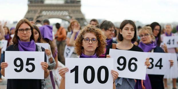 marche pour dénoncer le nombre alarmant de féminicide en France